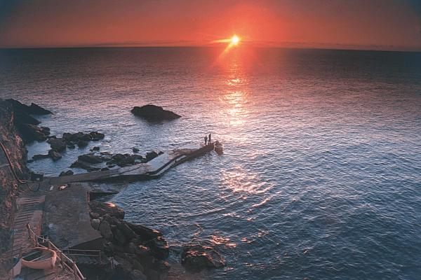 Tramonto nel Parco nazionale delle Cinque Terre